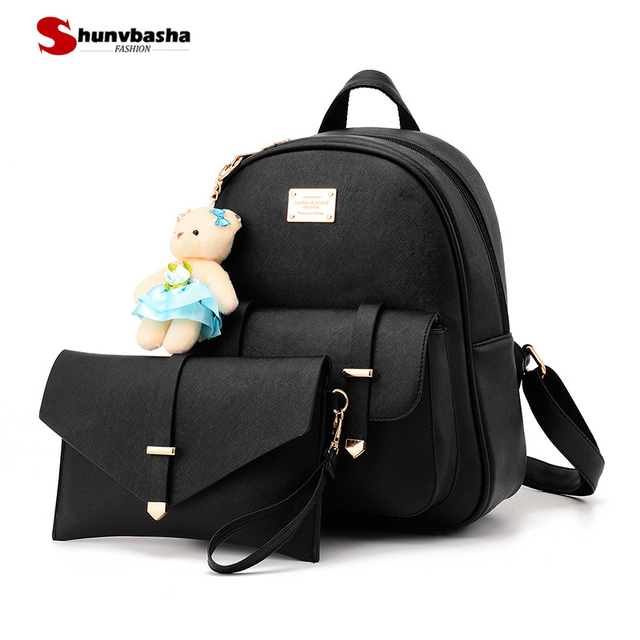 Fashion Women Backpack For Girls 2018 High Quality Pu Leather ...