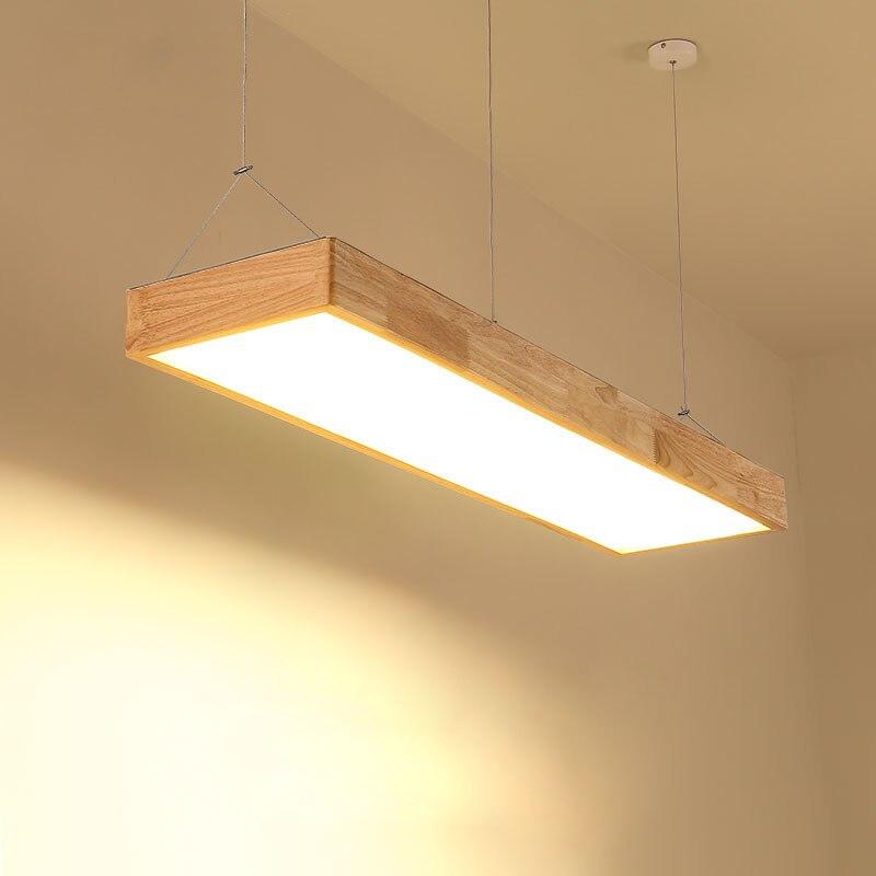 Светодиодный подвесной светильник из дерева Arcrylic абажур простой современный подвесной светильник для гостиная, прихожая, спальня, офис, ко...