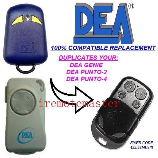 For DEA punto-2,punto-4 garage door remote replacement