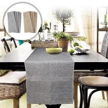 Европейский стиль сплошной льняной прямоугольный стол бегунов домашняя скатерть для гостиницы украшения стола