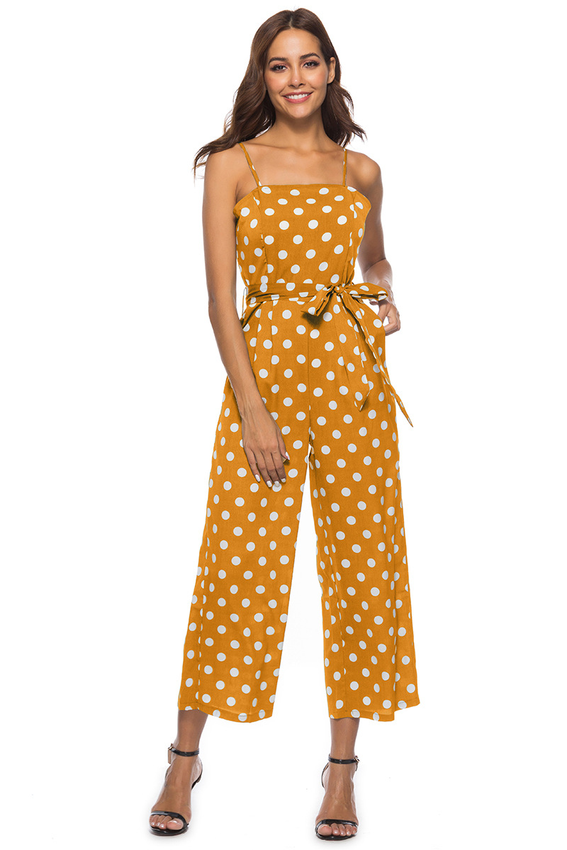 HTB1VWkFbovrK1RjSszfq6xJNVXaJ - Women Rompers summer long pants elegant strap woman jumpsuits polka dot plus size jumpsuit off shoulder overalls for womens