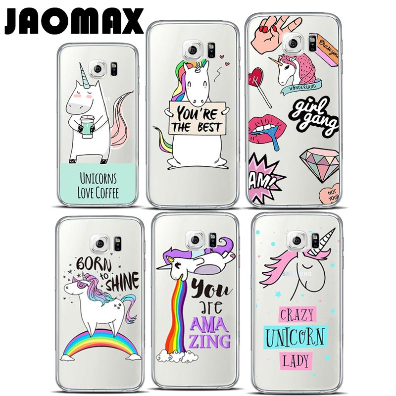cartoon dynamic animal rainbow unicorn case for samsung. Black Bedroom Furniture Sets. Home Design Ideas