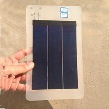Гибкая пленка солнечная панель 1 Вт 4,5 в 370ма аккумуляторная батарея комплект полная Солнечная система питания Солнечная батарея Fotovoltaica