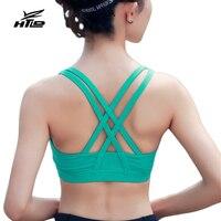 High Grade Bandage Padded Running Sports Bra Women Fitness Shockproof Sport Tank Tops Ventilation Training Vest