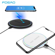 10W Qi Fast Wireless Charger For Samsung S9 S8 Note 8 9 Wireless Charging Pad For iPhone X XR XS Max Xiaomi Mix 2s 3 Charger Pad xiaomi wireless charger for xiaomi mix 2s samsung s9 iphone x qi wireless quick charging smart compatible for mobile phones