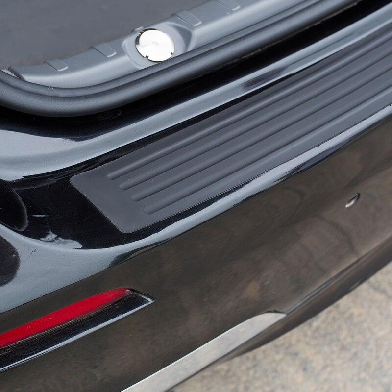 Image 5 - Black New Rubber Rear Guard Bumper Protector Trim Cover Accessories For Chevrolet Cruze Trax Captiva Aveo Malibu Lacetti-in Car Stickers from Automobiles & Motorcycles