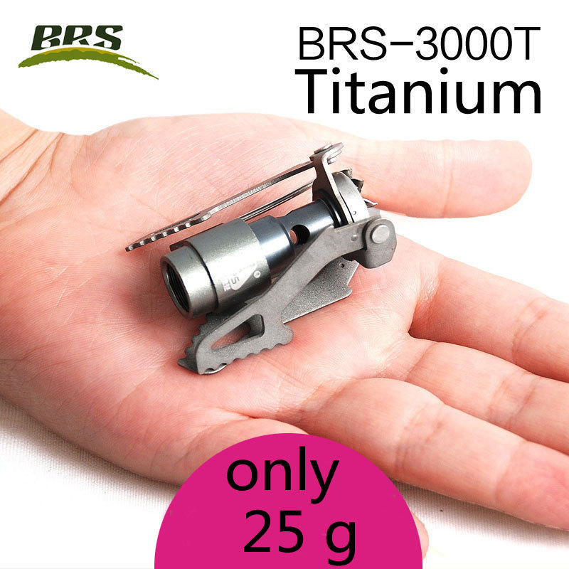 BRS Outdoor Camping Titanium Gas Stove Lightweight Portable Collapsible Hiking Butane Propane MINI Camp Stove Burner brs-3000t