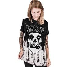 2017 Summer Women's Clothing Tops Tees Sad face Digital print movement  Long T-Shirts