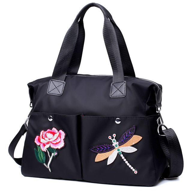 Waterproof Nylon Women Big Handbags Travel Messenger Bags Ladies Dragonfly  Designer Brand Casual Women Tote Large Sac Femme 2018 68e2a50558365