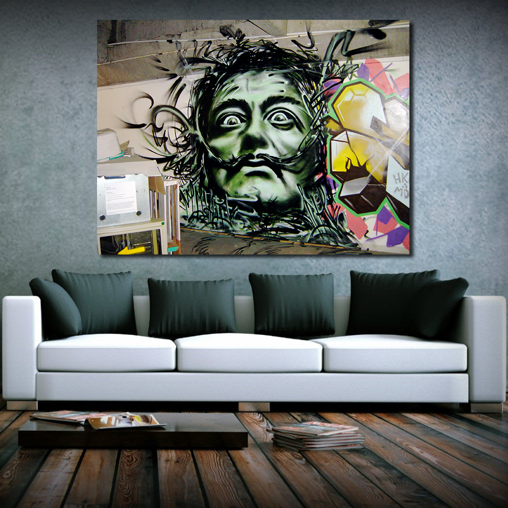 JQHYART Aerosol Dali Ölgemälde Leinwand Kunst Gemälde Für Wohnzimmer ...