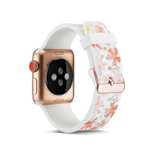 Silicone WatchStrap For Apple Watch 38mm 44mm Case , VIOTOO Colorful Pattern Rubber Band Strap for watch