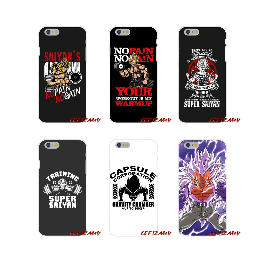 Half-wrapped Case Methodical No Pain No Gain Dragon Ball Z Goku Accessories Phone Cases Covers For Samsung Galaxy A3 A5 A7 J1 J2 J3 J5 J7 2015 2016 2017 Phone Bags & Cases
