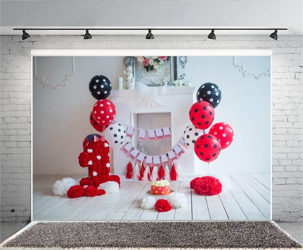 Laeacco Baby 1 Tort de balon cu flori pentru ziua de naștere - Camera și fotografia - Fotografie 4
