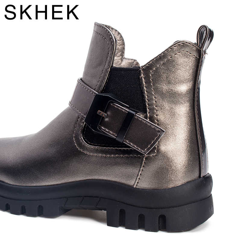 SKHEK Kış Ayakkabı Çocuk su geçirmez kauçuk Botları Erkek Kız Kalınlaşma pamuklu ayakkabılar Çocuklar Sıcak Termal kar ayakkabıları