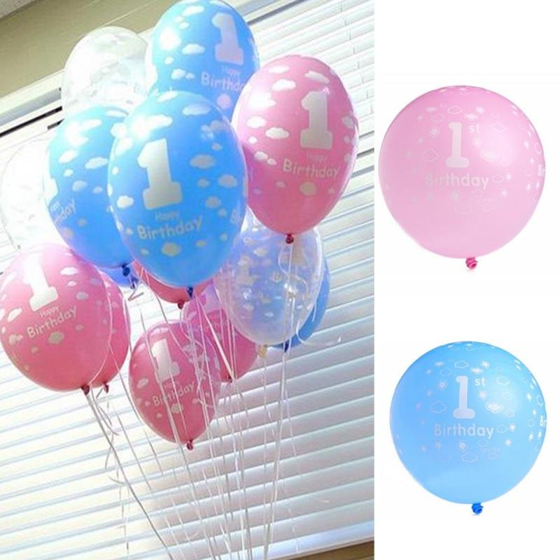 100pcs/bag 12-inch Balloon 1Year Old Baby Birthday Days Party Arrange Balloon Birthday Balloon Party New style s15