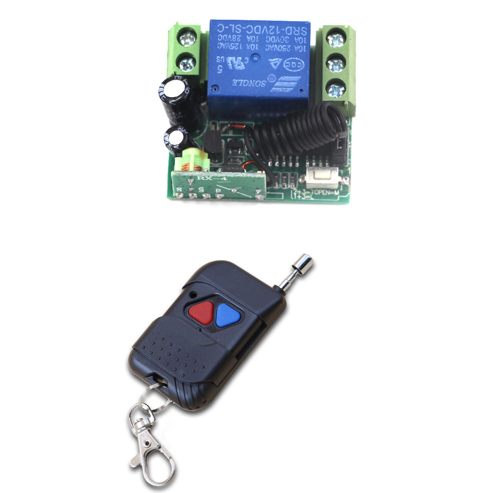Wireless Remote Control Switch Radio Switch 1CH Relay Receiver Transmitter For Motor Gate Lighting Learning Code 315Mhz 220v 1ch radio wireless remote control switch 8 receiver