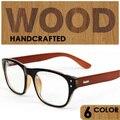 2016 johnny depp óculos de armação de alta qualidade óculos de madeira de madeira armações de óculos das mulheres dos homens