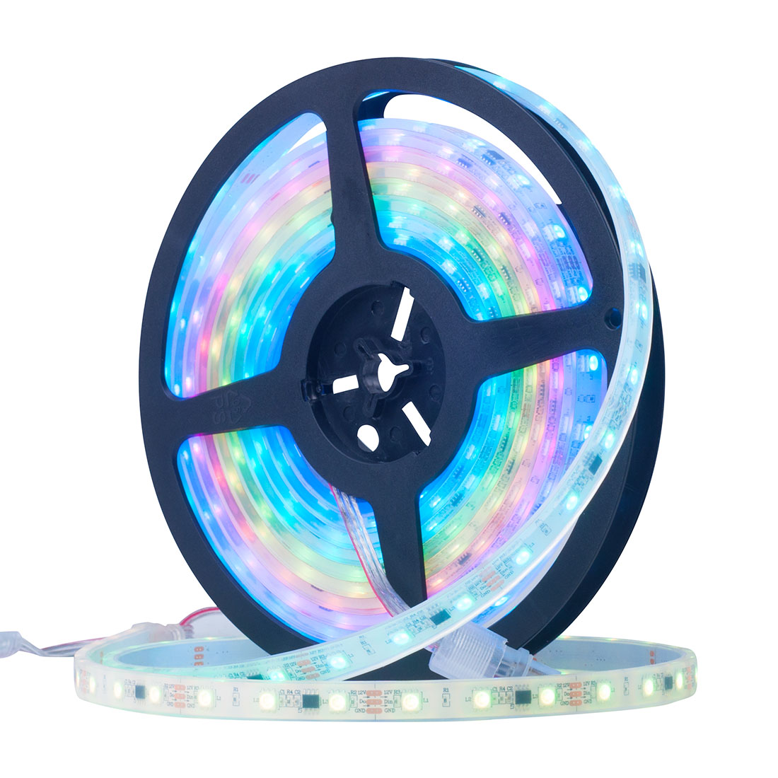 Official Website Wholesale 5m Ws2811 Led Strip Dc12v Ultra Bright Rgb Leds 30/60led/m 5050 Smd Connector In Silicone Packaging Better Waterproof Led Lighting