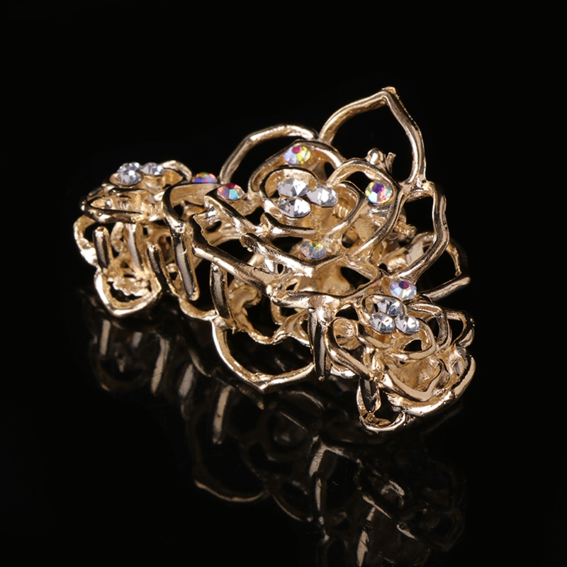 Claw Crab Bride   Headwear   Charms Floral Luxury Fashion Wedding Barrette Hair Clip