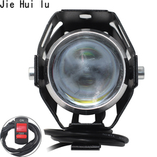 Universal 2 PCS /1 125W Motorcycle LED Headlight 3000LMW U5 Motorbike Driving Spotlight Street Moto Fog Spot Head Light Lamp