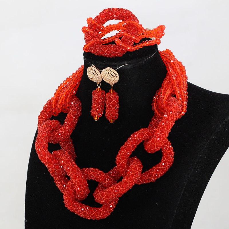 Новые Классические Свадебные красный цветок Свадебные украшения для невесты Большой Африканский Свадебные украшения Устанавливает больш...