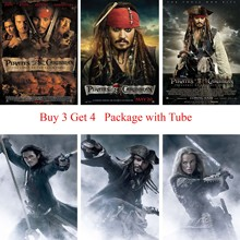 Pirates of Caribbean Posters White Coated Paper Prints Home Decoration for Livingroom Bedroom Art Brand
