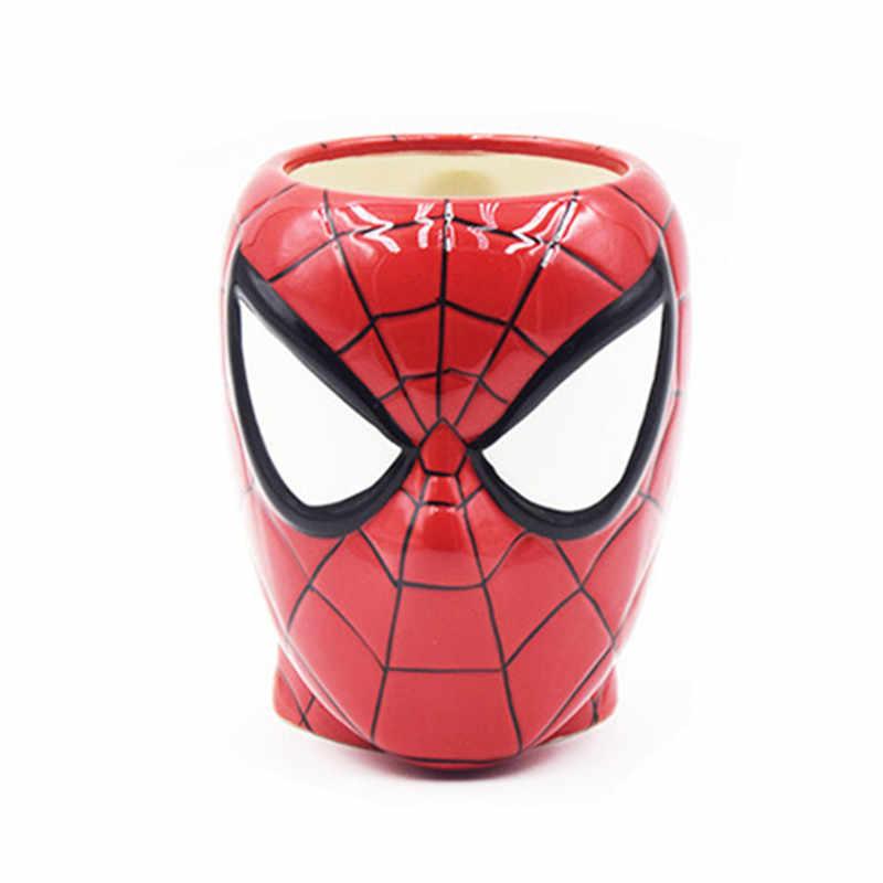Marvel человек паук кофейные кружки керамические мстители чашки и кружки мультфильм чай молоко посуда для напитков подарочная коробка
