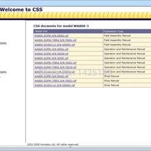 Комацу CSS строительные и горнодобывающие фронтальные погрузчики большого размера Заводские инструкции