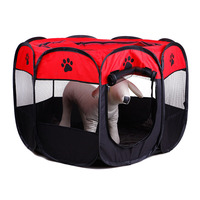 Pet Dog Cat Fences Crates Portable Foldable Pet Playpen Carrying Case & Collapsible Travel Tent with Mesh Removable Shade Cover