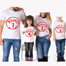 2019 New T-Shirt Family Clothing Mother/Father/Kid Family Look Matching Outfits Clothes 1/2/3/4 Number Printed Short Cotton Tees недорого