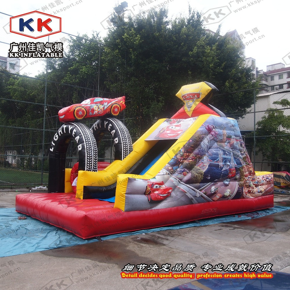 Inflatable Water Slide To Rent: New Inflatable Racing Car Slide For Kids Event Rent-in