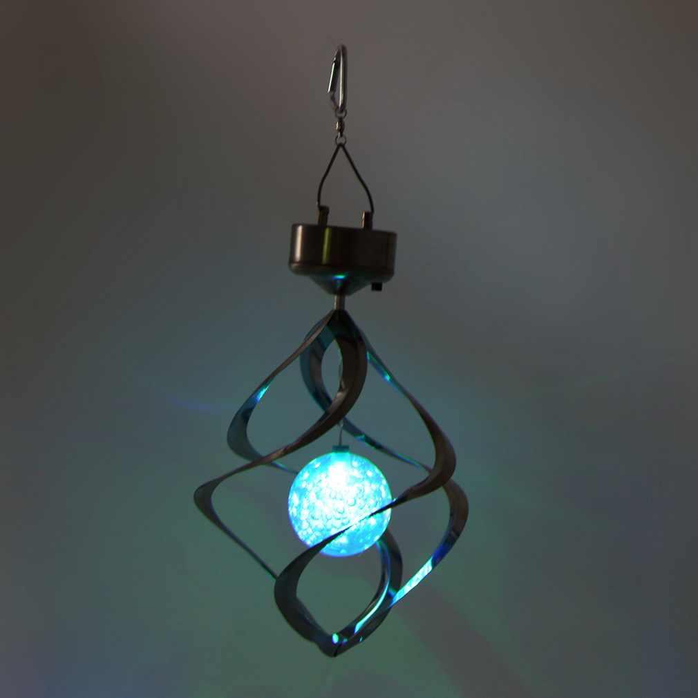 Solar Powered LED Lonceng Angin Angin Spinner Lonceng Angin Outdoor Halaman Taman Anak-Sale