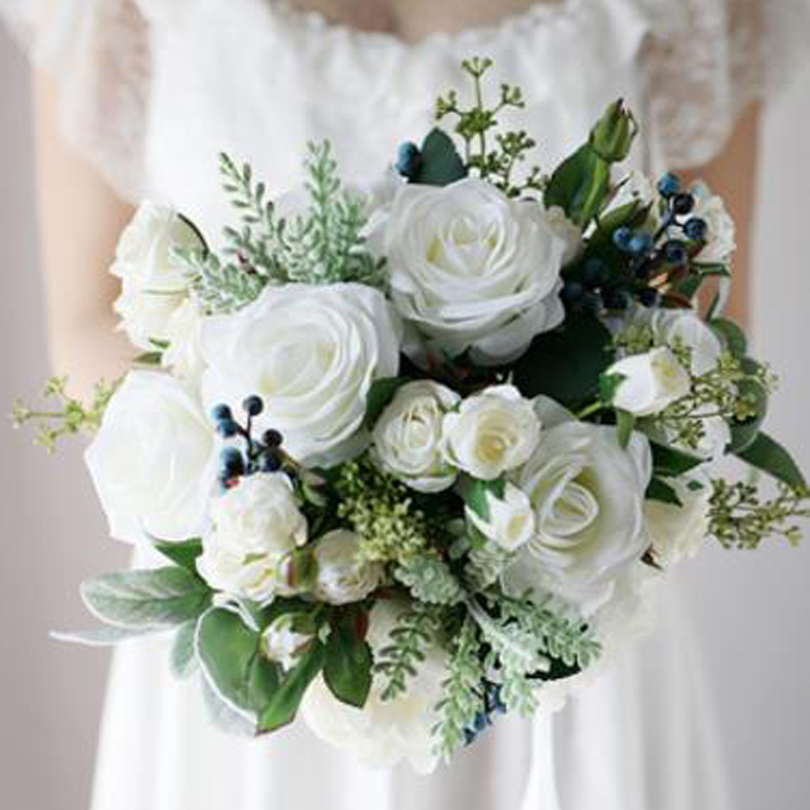 Beautiful June Wedding Flowers Arrangements: Wedding Bouquets Flowers Artificial Flower Rose Bouquet