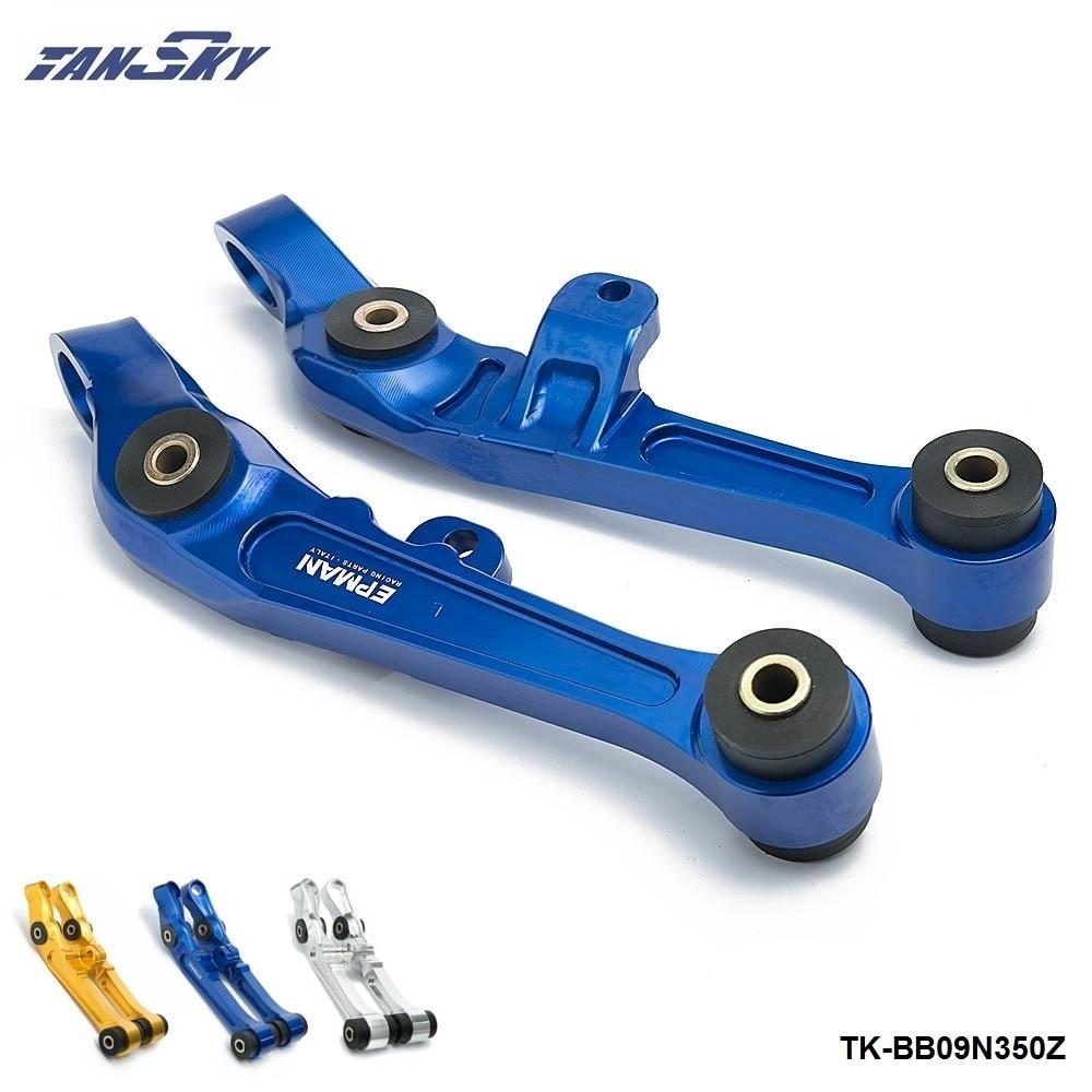 Pour Nissan 350Z 2D 3.5L avant bras de commande inférieur CNC billette mise à niveau bague bleu/argent/or TK-BB09N350Z