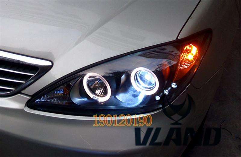 VLAND manufacturer for Car head lamp for Camry LED Headlight 2001 2003 2006 Head light with xenon HID projector lens and Day xl 2200u manufacturer tv projector lamp