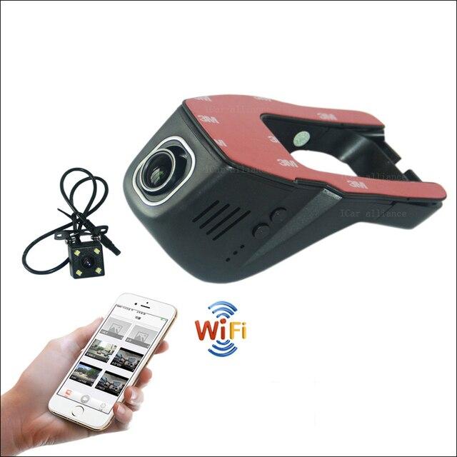 For Nissan Qashqai Car Wifi DVR Dual lens Driving Video Recorder hidden Installation FHD 1080P Dash Cam Car Black Box