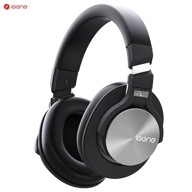 Casque sans fil iGene bandeau antibruit actif ANC 25DB Hi-Fi stéréo casque de basses Bluetooth pour huawei xiaomi meizu
