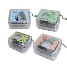 Acrylic Totoro Cartoon Music Box Anime Musical Boxes Hand Cr