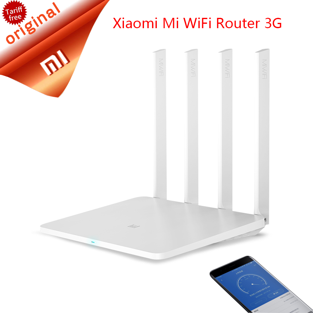 Original Xiaomi Wireless Wifi Router 3G 1167Mbps 802.11ac Dual Band 2.4G/5G Wifi Extender Mi Router Supports English Version App h 3 c rt msr900 ac h3 enterprise class 3g router