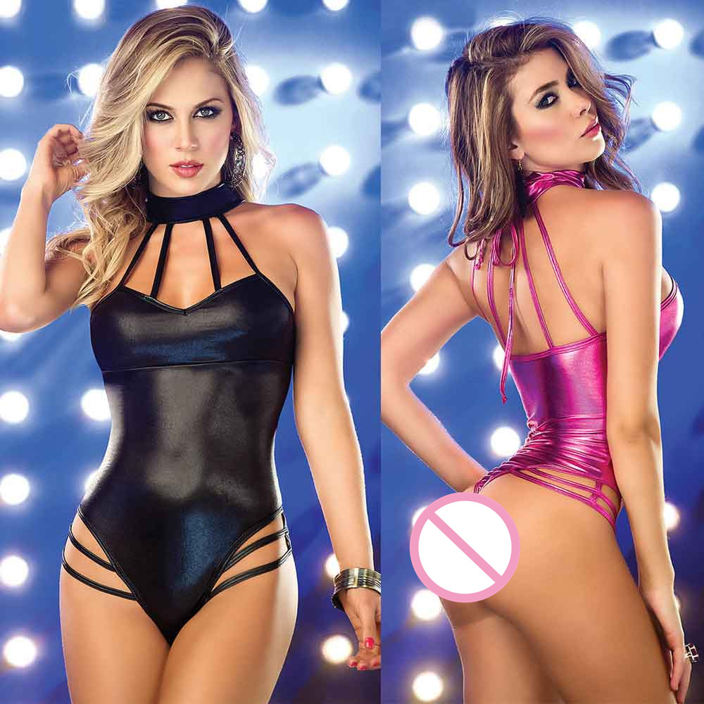 c91e0eecabf Hot Erotic Lingerie Women Sexy Lingerie Sleeveless Dress Backless wear  Stripper Patent Leather Sexiest Sleepwear Nightgowns-in Nightgowns    Sleepshirts from ...