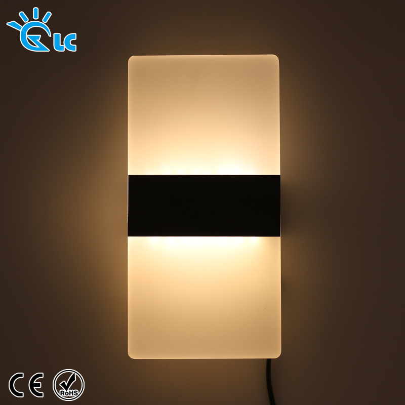 цены 2PCS Modern 110V 220V Light LED Wall Lamp Bedroom Bedside Light Living Room Balcony Aisle Wall Lamp Corridor
