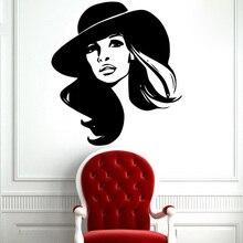 YOYOYU Beauty Lady Vinyl Wall Sticker Fashion Charming Girl Spa Hair Salon Removeable Decal Living Bedroom Decoration ZX306