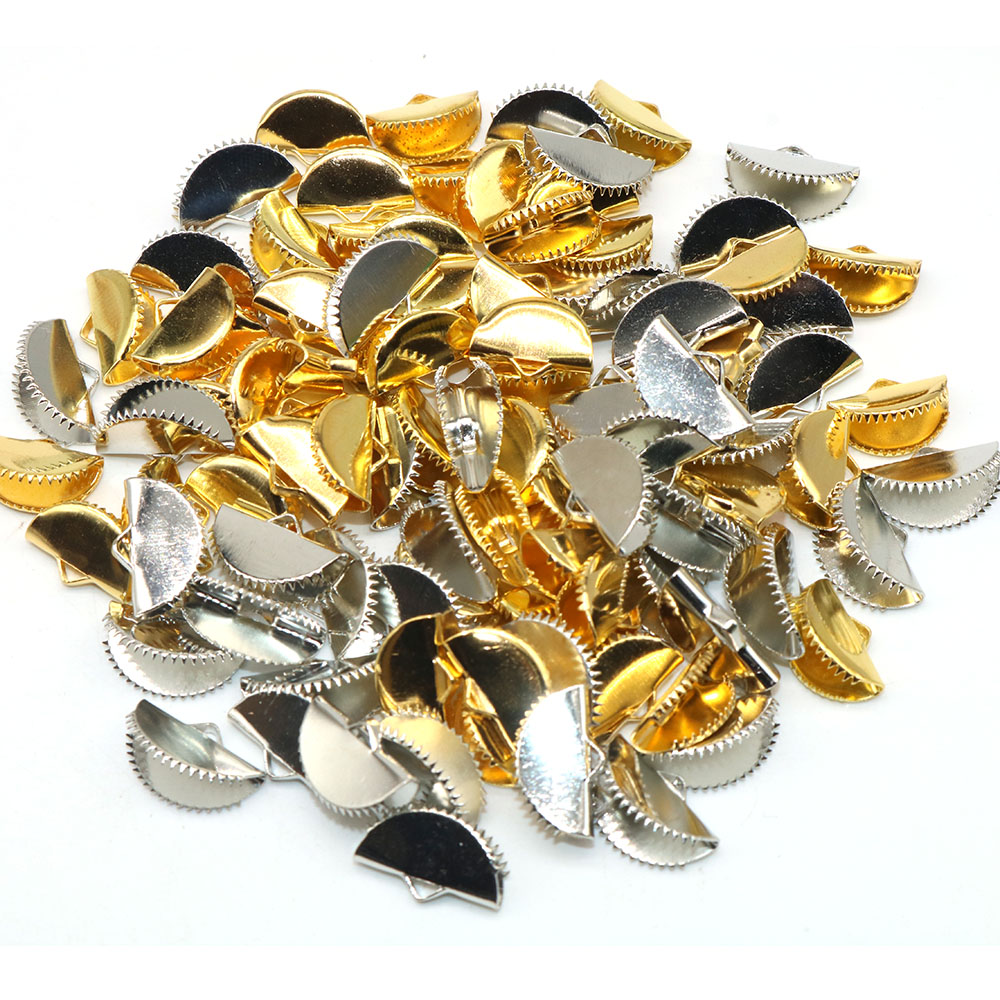100pcs Clasps Hooks Findings With Loop Clasp Clip Round Base Diy Jewelry Making Accessories Wholesale Semicircle Clamp