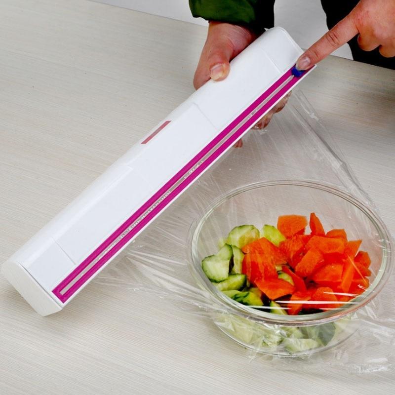 ERNESTO Kitchen Foil /& Cling Film Dispensers  Green Grey Pink  2pack