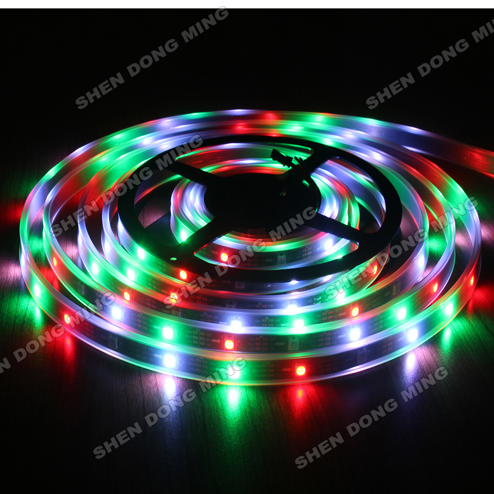 100mlot colour changing led strip rgb digital 5050 led ribbon 100mlot colour changing led strip rgb digital 5050 led ribbon waterproof ip67 32ledm 32icm ws2801addressable tv led strip in led strips from lights mozeypictures Image collections