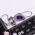 Amethyst Women Earrings 925 Sterling Silver Free Shipping Newest Fashion Jewelry Earrings TE726