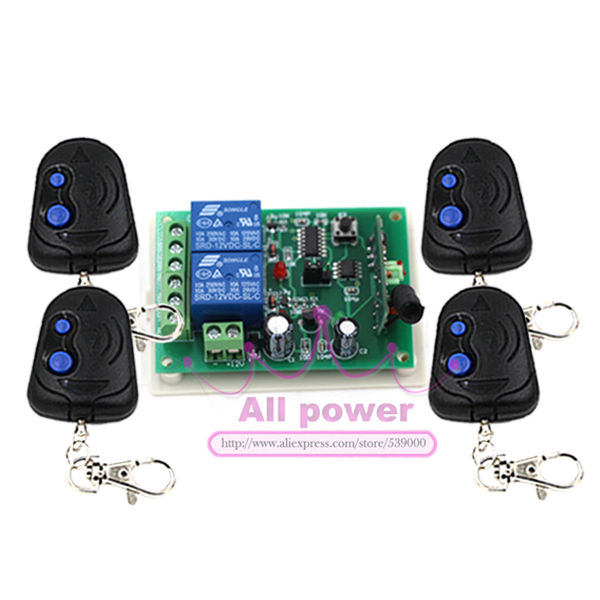 DC 12V 2CH Channel Remote Switch Wireless ON/OFF  For Door Window Remote Control System 315 433mhz 12v 2ch remote control light on off switch 3transmitter 1receiver momentary toggle latched with relay indicator
