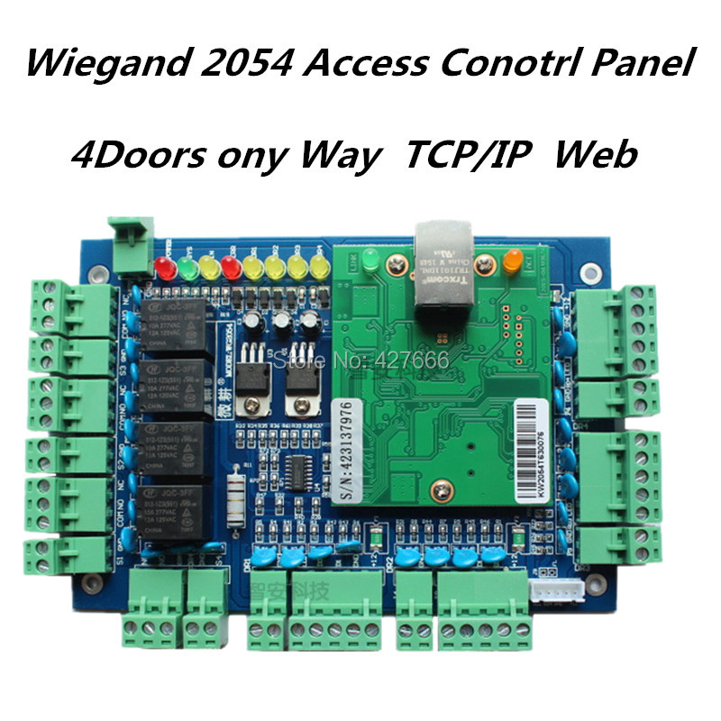 Wiegand TCP/IP Network Entry Access Control Board  Door Access Controller+ Free Access Control Software four door network access control panel board with software communication protocol tcp ip board wiegand reader for 4 door use