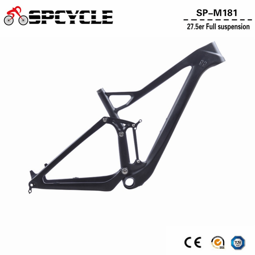 Spcycle 27.5er Plus Full Suspension Frame 29er Carbon MTB Mountain Bike Frames 27.5+ 148*12mm Boost Thru Axle Bicycle Frameset