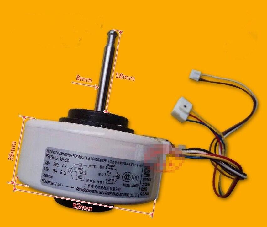 Moteur de ventilateur de climatisation dorigine pour Panasonic RPG18A-3 A921116 moteur nternalMoteur de ventilateur de climatisation dorigine pour Panasonic RPG18A-3 A921116 moteur nternal